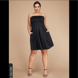 Lane Bryant Fit and Flare Scuba Dress
